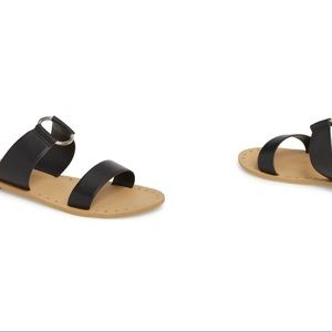 Topshop leather ring sandals! New with tags! 5